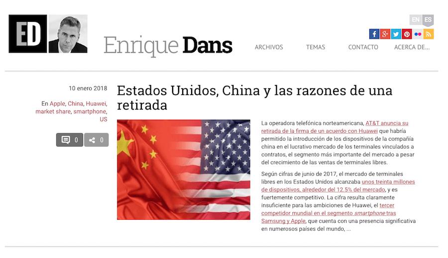 Enrique Dans website