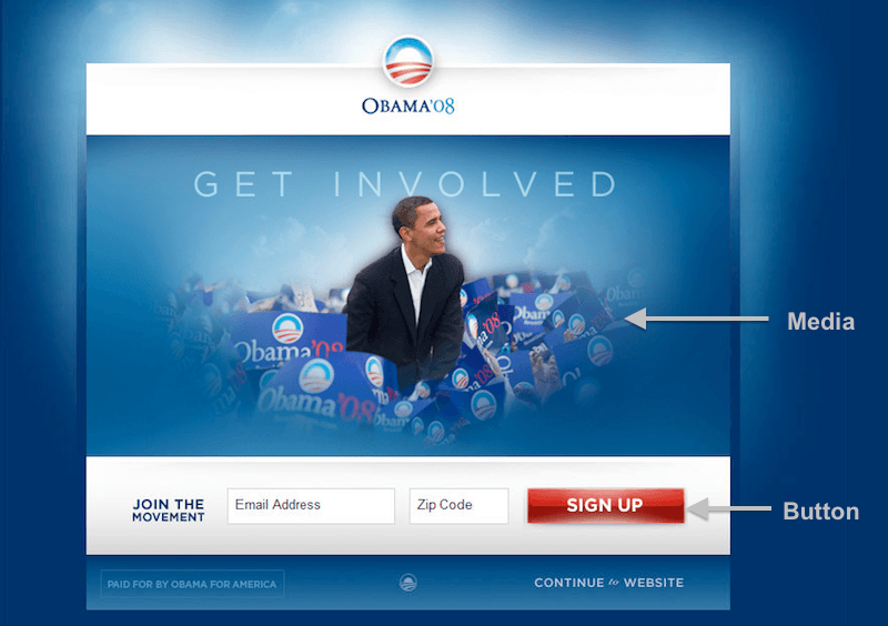 Original Obama campaign website