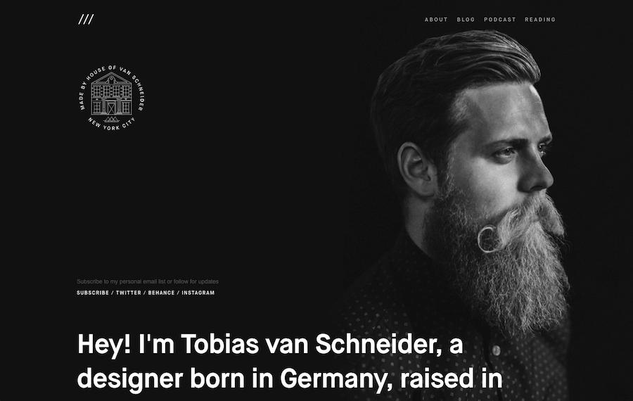 Tobias Van Schneider web