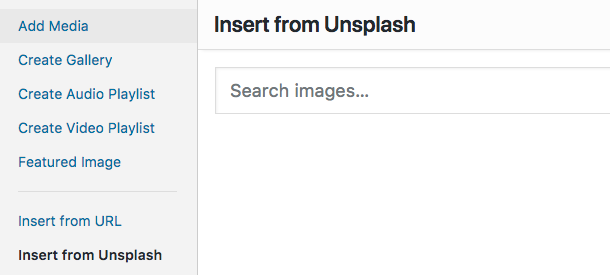 Insert image from Unsplash