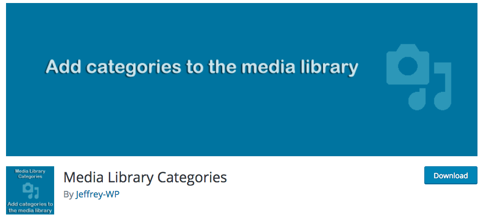 Media Library Categories