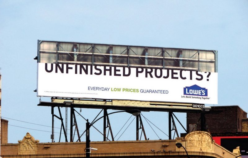 Unfinished Project Billboard