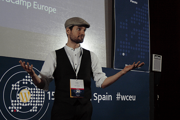 Joan Boluda, speaker at WordCamp Europe 2015 in Seville.