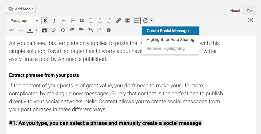 Create social message
