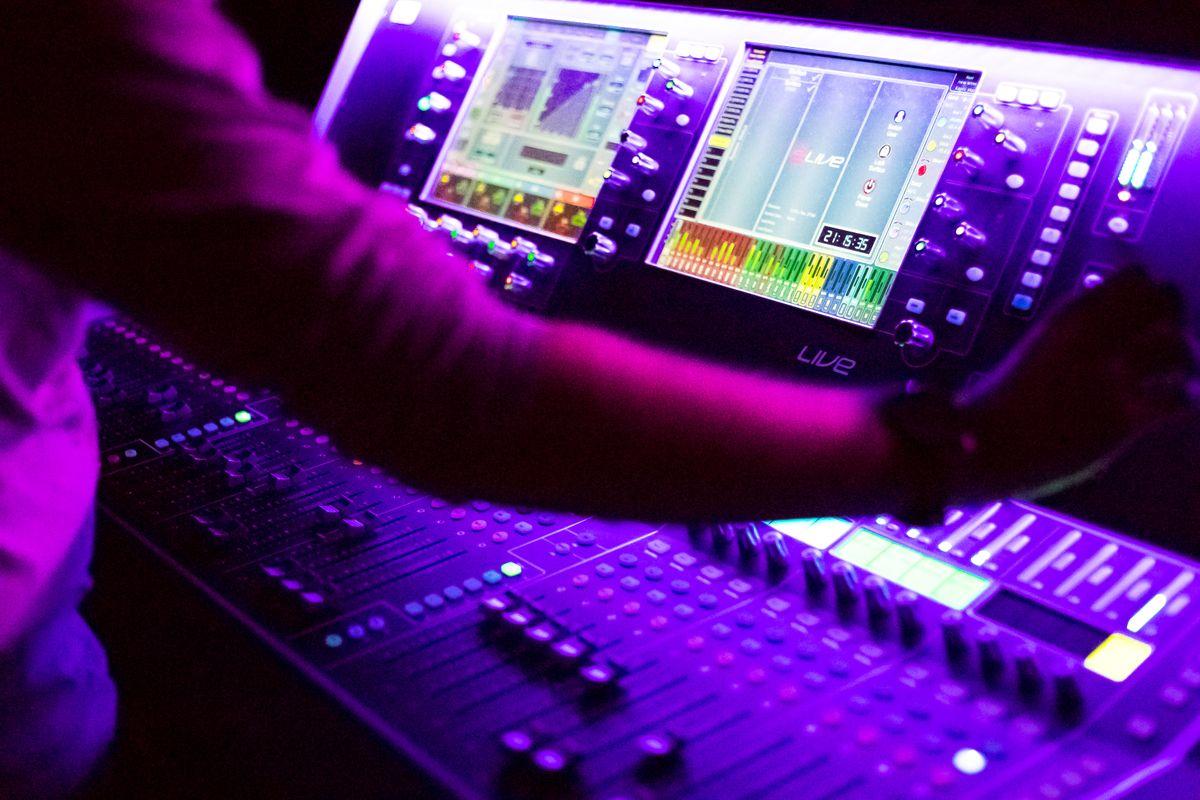 Sound Desk, by James Coleman
