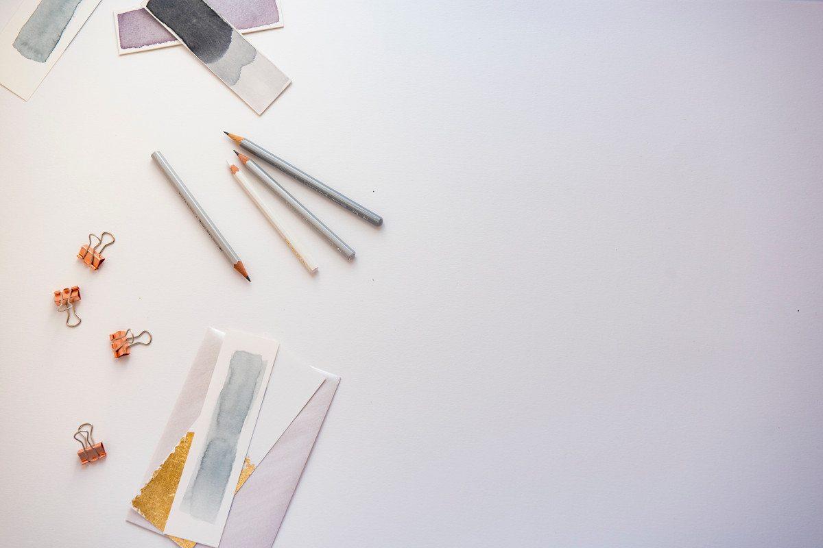 """""""Flatlay, pencil, clips and stationary,"""" by Joanna Kosinska"""