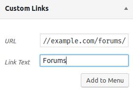 Navigation Menu Item pointing to bbPress forums list