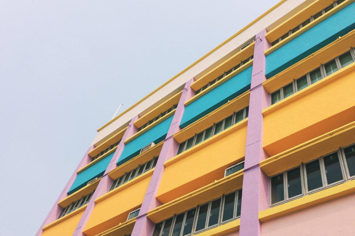 Building, sky, colour and window, by Joe LIU