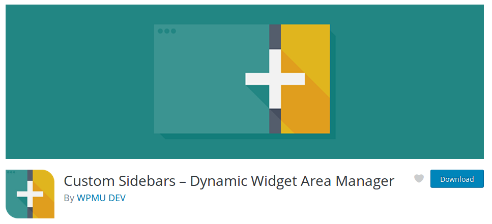 Screenshot of the Custom Sidebars plugin by WPMU DEV