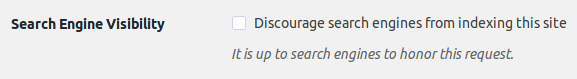 Discourage search engines to index it