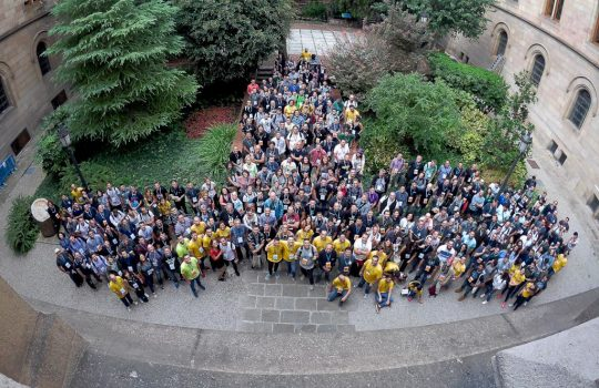 WordCamp Barcelona 2018 attendees.