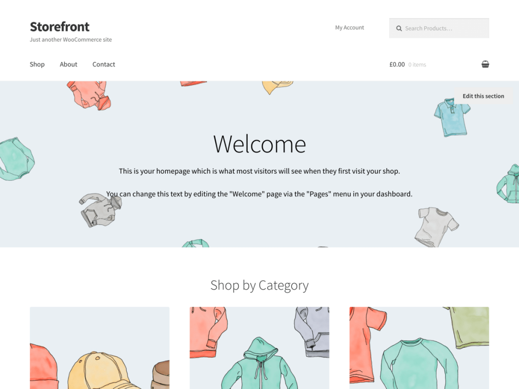 Storefront is the WordPress theme designed by WooCommerce developers.