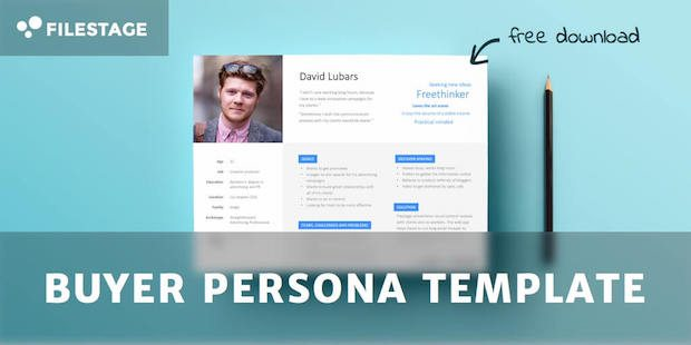 Buyer persona template lead magnet example.