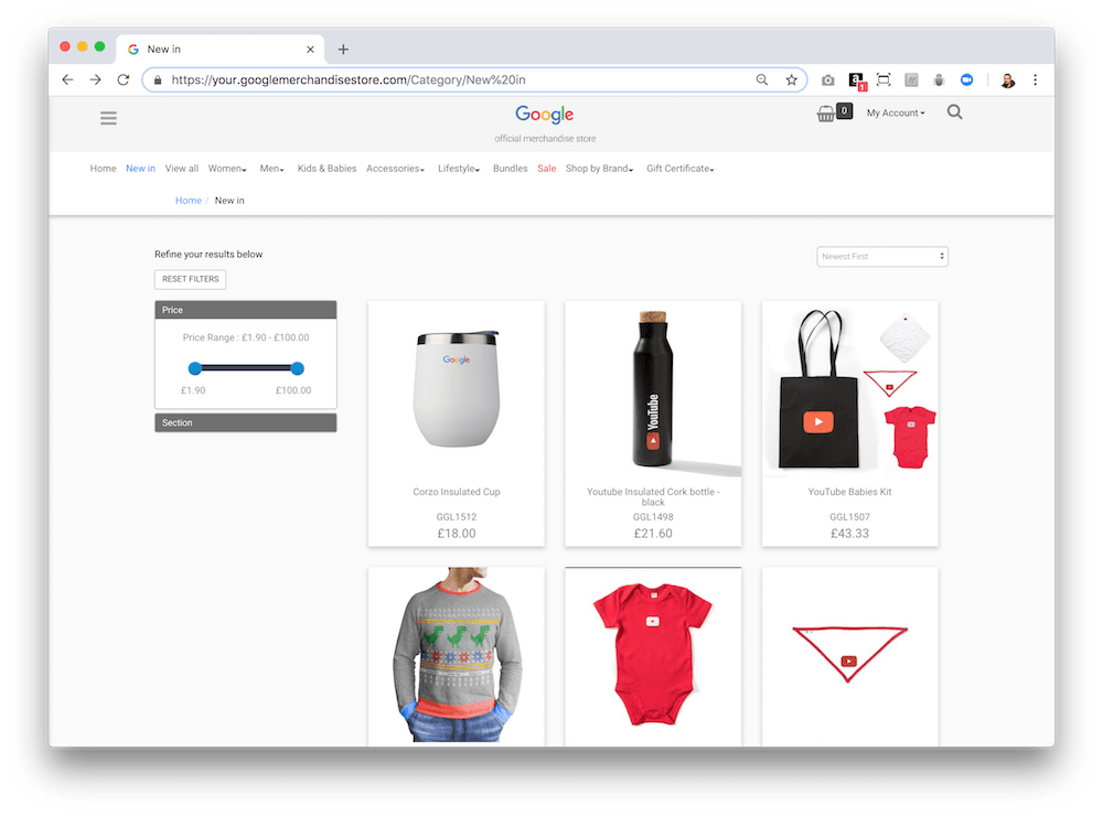 There's a lot of swag you can purchase in the Google merchandising store.