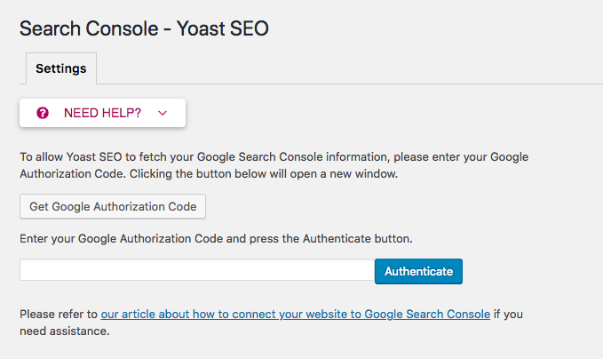 Search console Yoast SEO