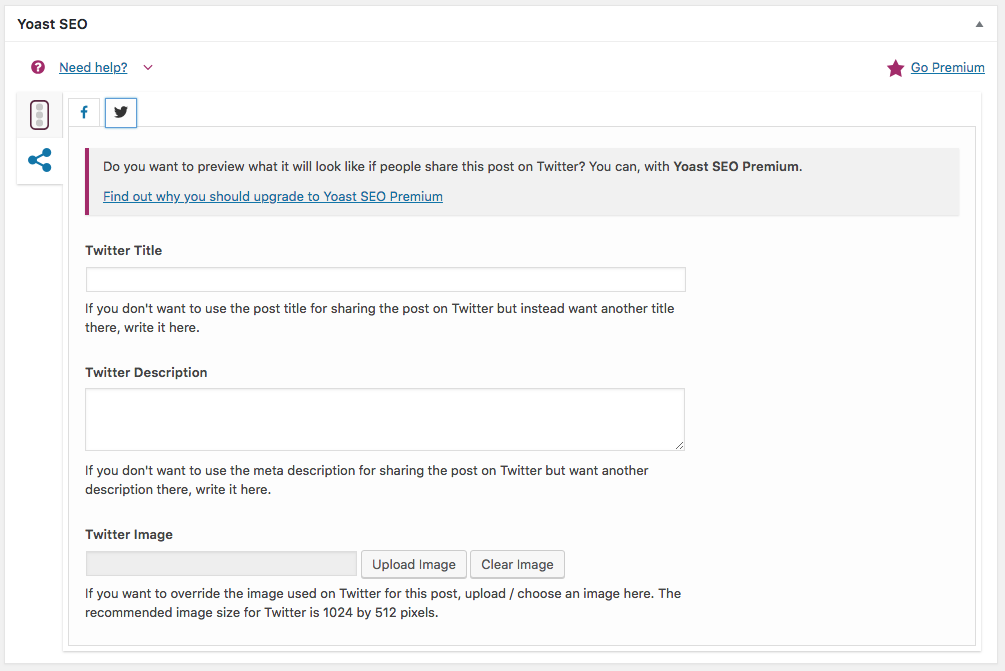 Customize how you want your post to look when posted on Twitter.