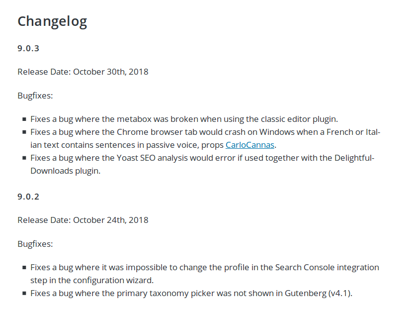 Plugin Changelog Example