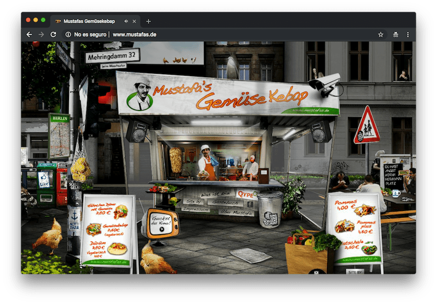 You can still find websites like this kebab stand in Berlin that work with Flash and are an example of anti-accessibility.