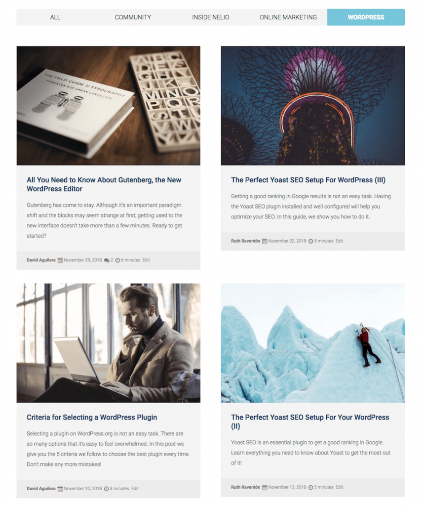 Don't miss all posts on our Nelio's blog!