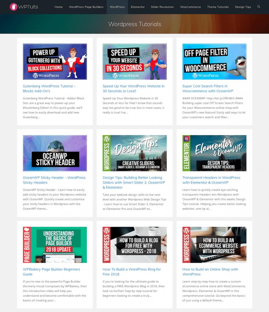 WPTuts WordPress tutorials.