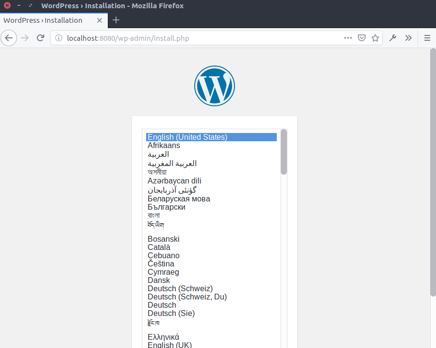 Installing WordPress on a Docker Container