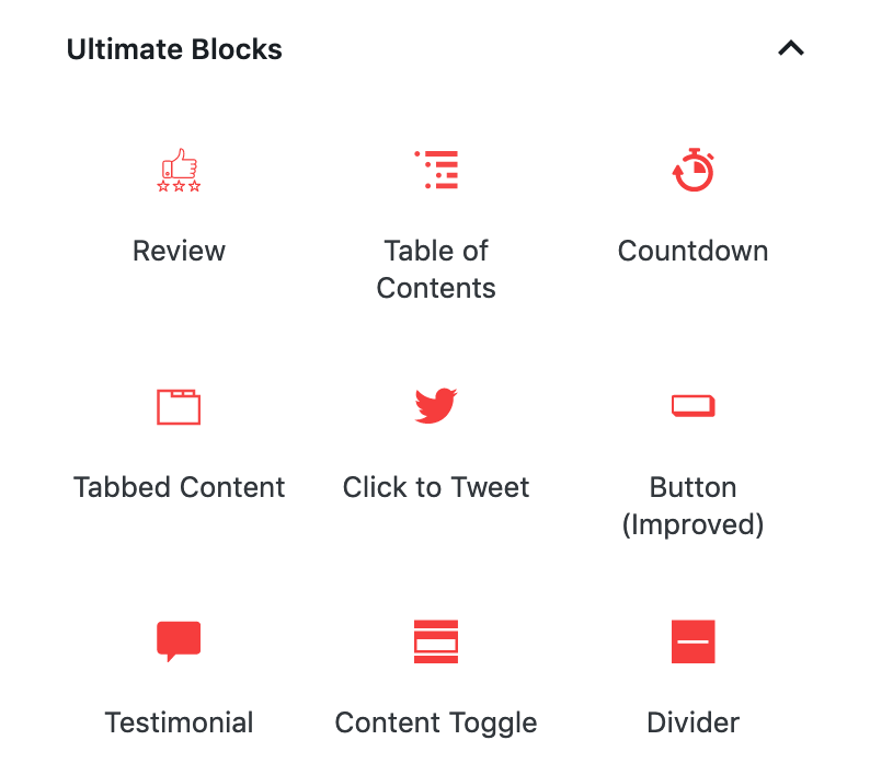 Ultimate blocks plugin