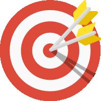 Icono de una diana con flechas