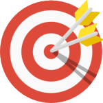 Icon of a target with some arrows in it