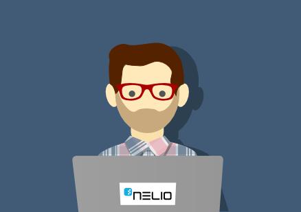 Ilustración de una persona usando un portátil