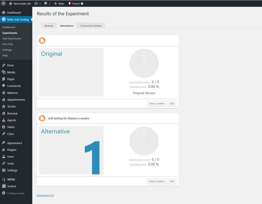 Using Nelio A/B Testing and WPML plugins.