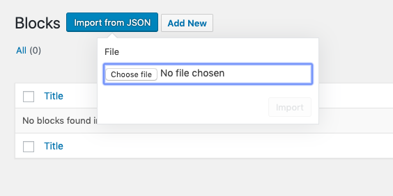 Select the JSON file you want to import.