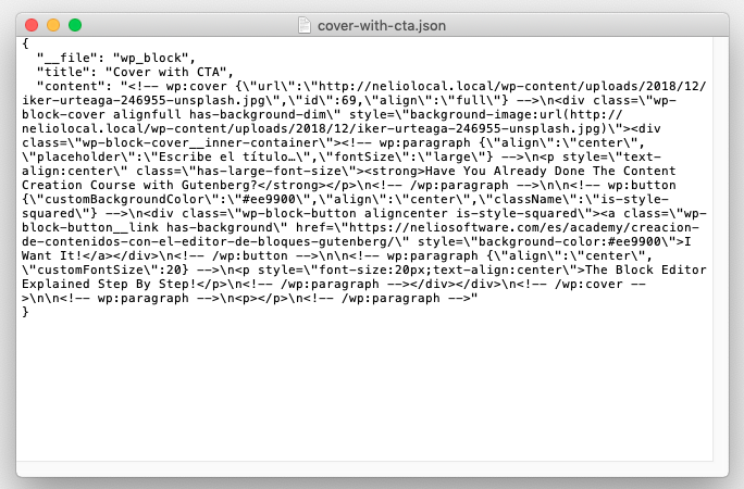 Content of the cover-with-cta.json file.