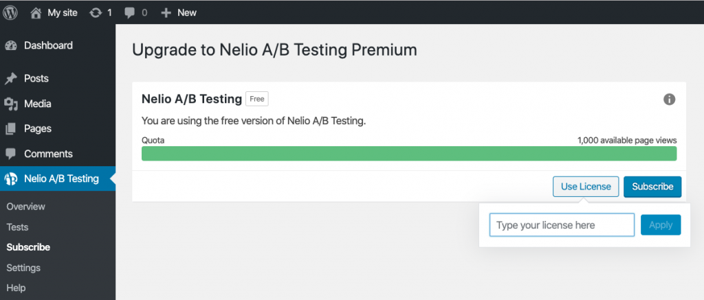 Subscribe to Nelio A/B Testing Premium