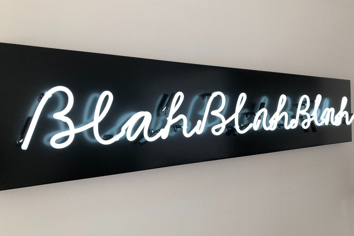 Blah blah blah, de Nick Fewings