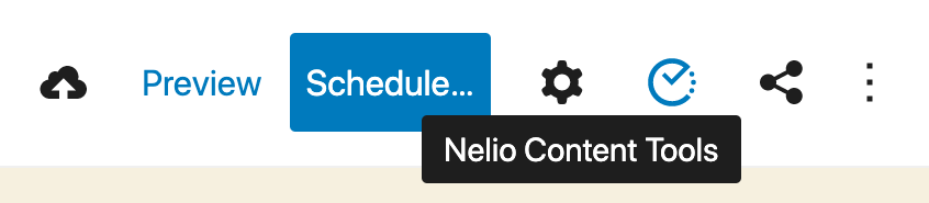 Nelio Content Tools icon.