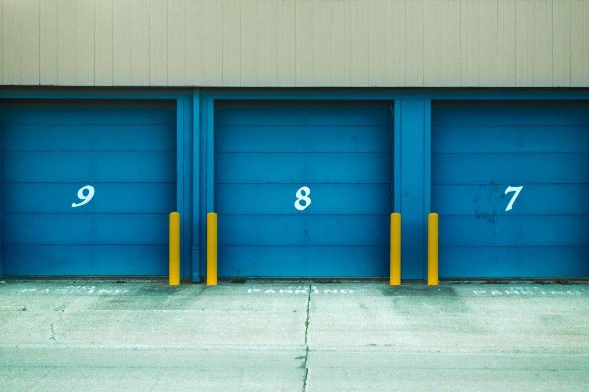 Photo of three warehouse doors