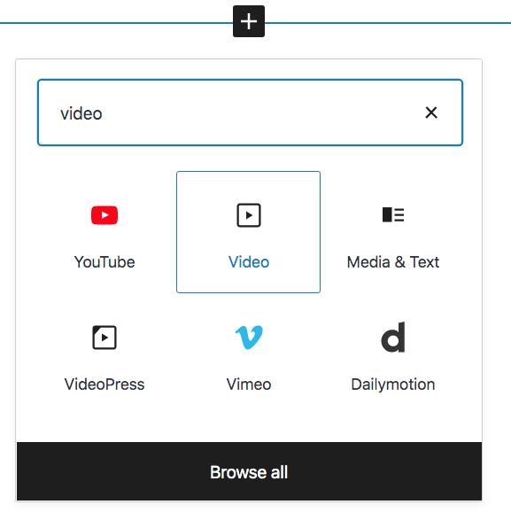 Video type block.