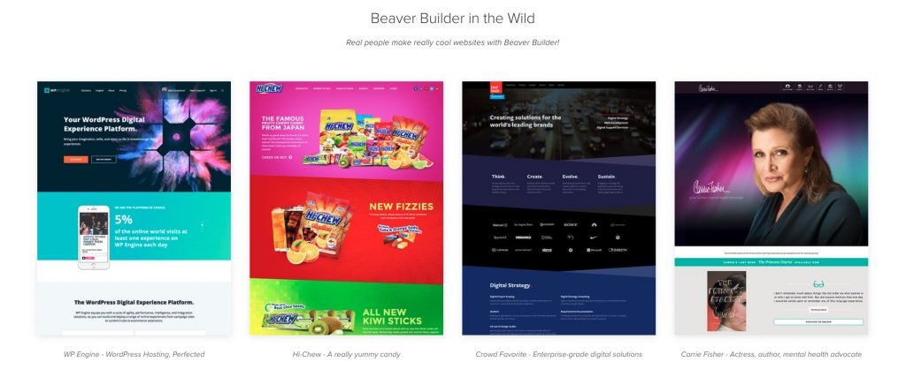 Screenshot of original page built with Beaver Builder - 2