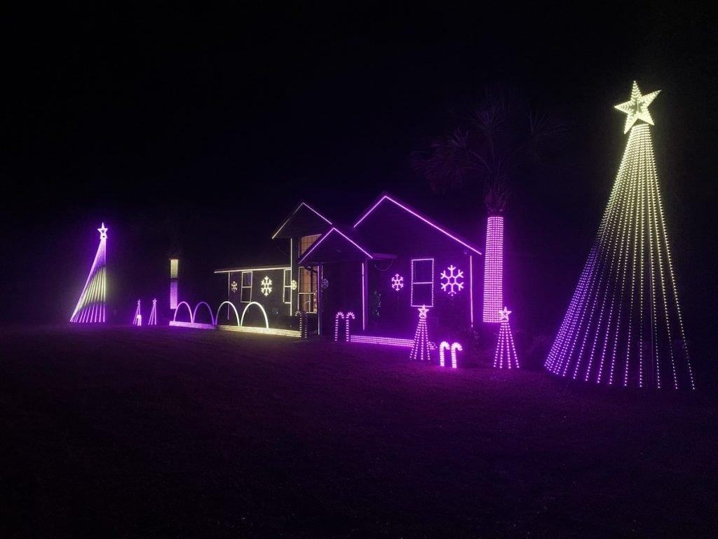 Christmas lighting by David Baumwald.