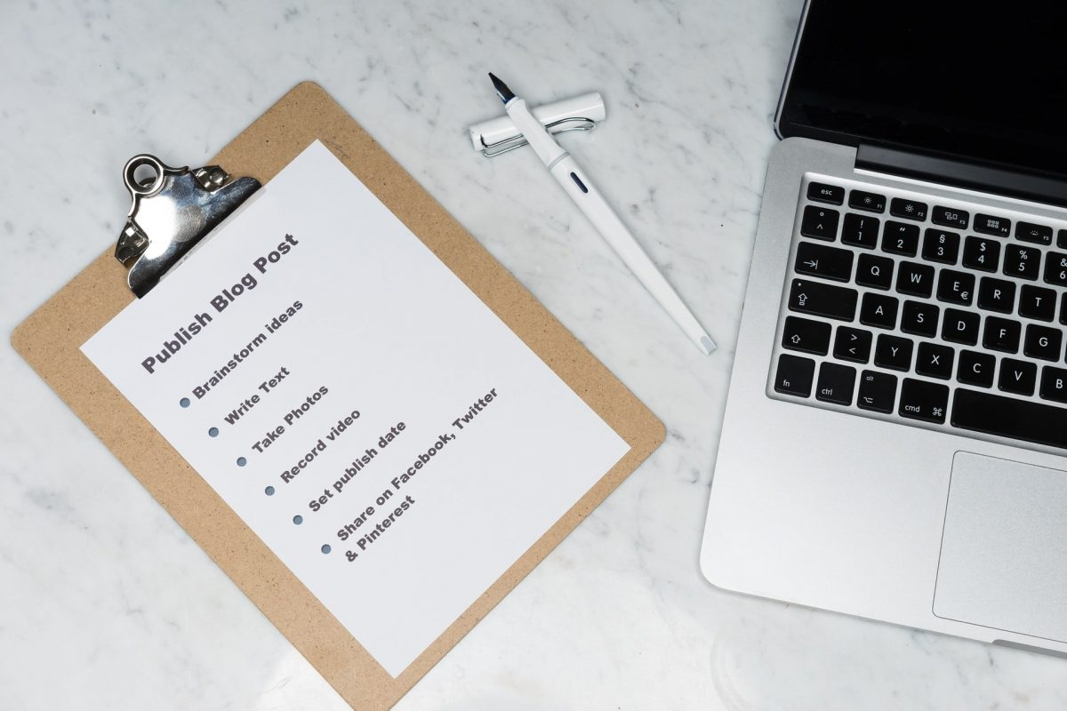 Checklist of publishing a post
