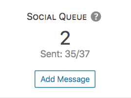 Detail of the social queue of a post in the Analytics page of Nelio Content.