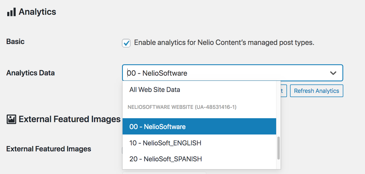 Select the Google Analytics view that will be used to read the data needed to complete the analytics of Nelio Content.