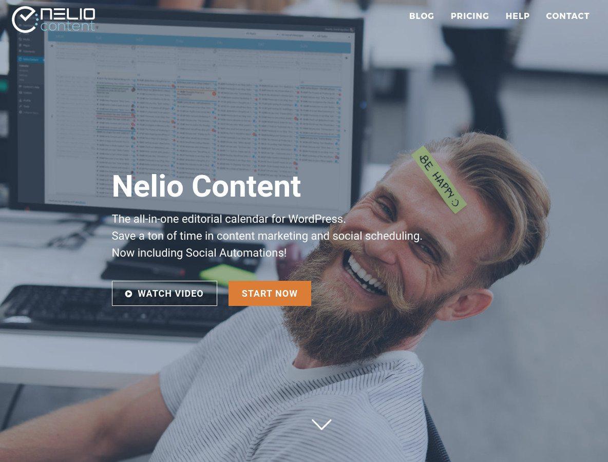 Nelio Content Home Page