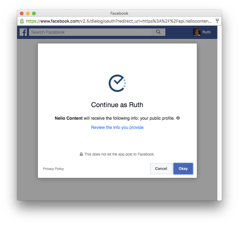 how to connect your id to facebook