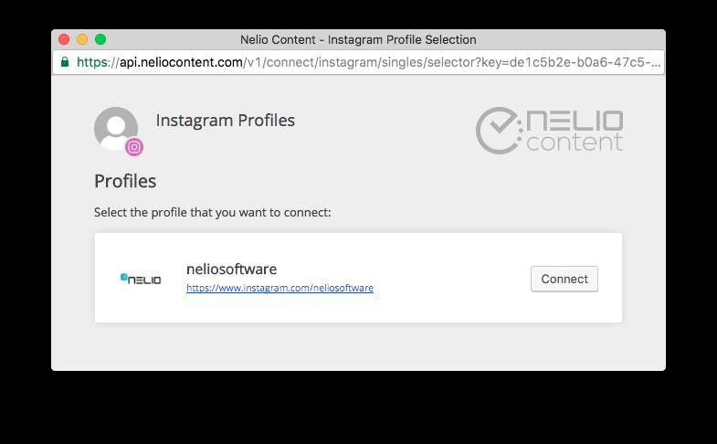 Selecting Instagram Profiles