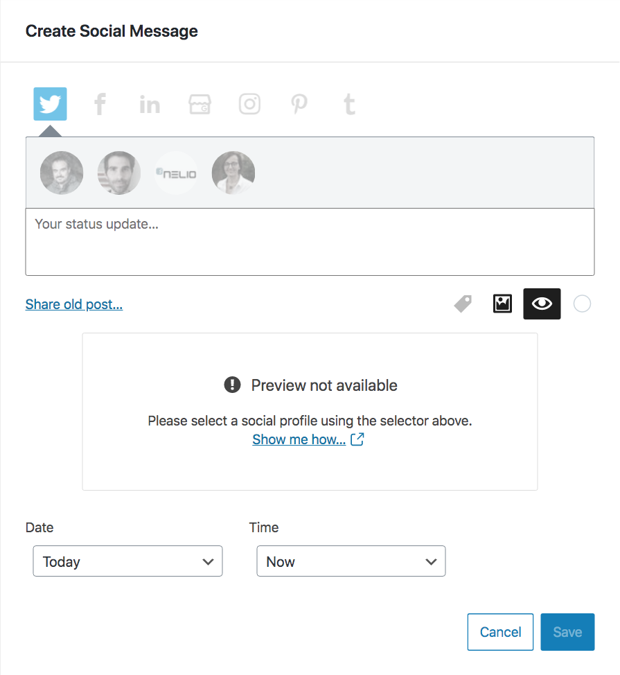 Social message preview not available